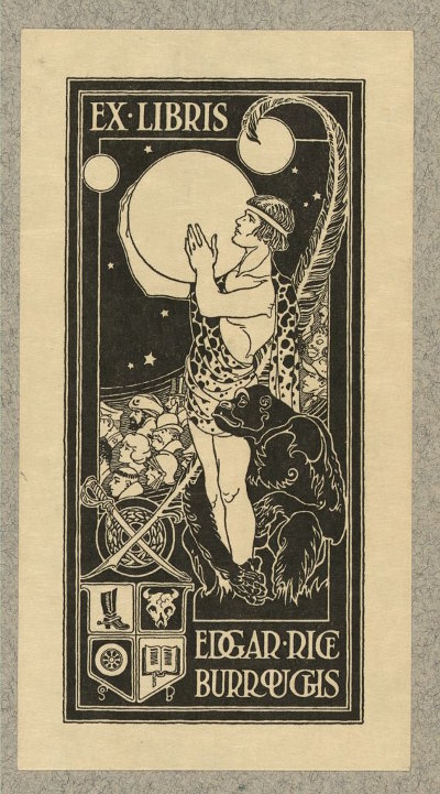 Edgar Rice Burroughs' Bookplate