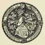 Fine circular Ex Libris with arms, and legend in border, Ex Bibliotheca Wilhelmi van Eys, Amstelodam.