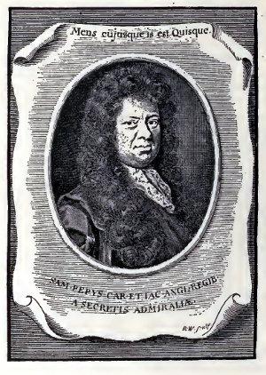 Samuel Pepys - Portrait Ex Libris