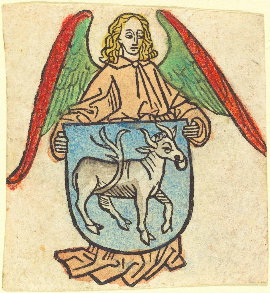 Bookplate of Hilprand Brandenburg of Bibrach, c. 1475