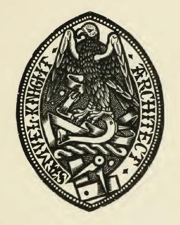 Ex Libris of Samuel Knight, Esq., Architect.